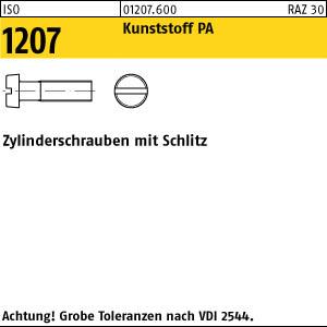 200 Schlitz Zylinderschrauben ISO 1207 Messing vernickelt M4x6