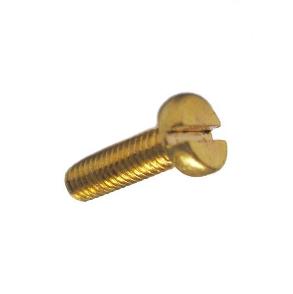 100 Schlitz Zylinderschrauben ISO 1207 Messing M 1 x 3 blank Ms