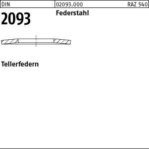 200 Tellerfedern DIN 2093 Federstahl 8x4,2x0,4 A20930000080404