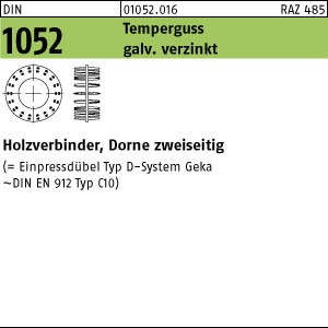 25 Holzverbinder DIN 1052 Holzverbinder GT Typ D, 80 A10520160800000