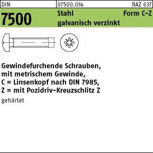1000 Gewindefurchende Schrauben DIN 7500 St. geh�rtet C M3,5x6 -Z verzinkt A75000140035006