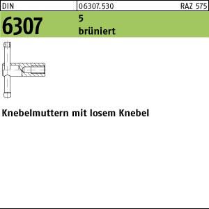 1 Knebelmuttern DIN 6307 Stahl 5 M10 br�niert, loser Knebel br�n A63075300100000