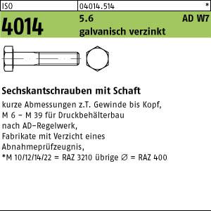 1 Sechskantschrauben DIN 931 8.8 verzinkt M24x240